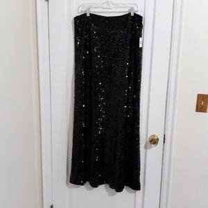 Calvin klein long sequin floor length skirt